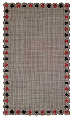 Carson Star Scalloped Table Cloth - 60 x 102 inch