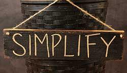 Simplify Wooden Sign - Black