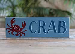 Fresh Crab Wood Sign