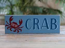Fresh Crab Wood Sign