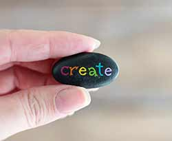 Create Hand Painted Pocket Rock