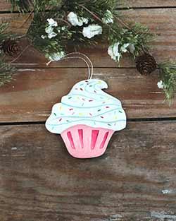 Cupcake Personalized Ornament