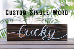 Custom Single-Word Wood Sign