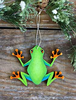 Tree Frog Personalized Ornament