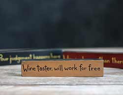 Wine Taster Shelf Sitter Sign