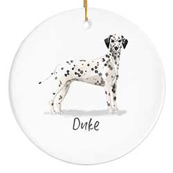 Dalmatian Personalized Ornament