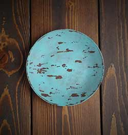 Robin's Egg Blue Decorative Wood Plate