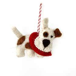 Terrier Dog Wool Ornament