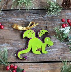 Friendly Dragon Personalized Ornament