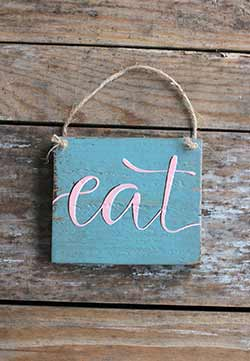 Eat Sign Ornament