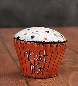 Eat Me Halloween Cupcake (Original Folk Art)