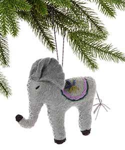 Elephant Wool Ornament