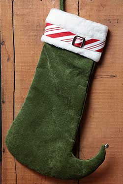 Elf Boot Chenille Stocking