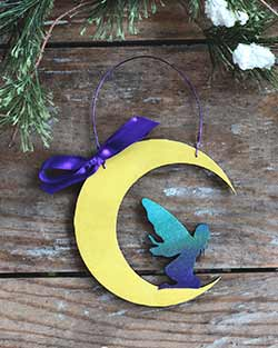 Fairy in Moon Personalized Ornament