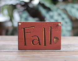 Fall Wood Sign with Acorn