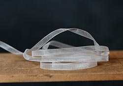 White Organza Ribbon, 1/4 inch