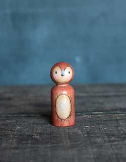 Brown Fox Mixed Media Art Doll (or Ornament)