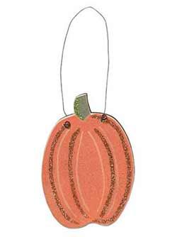Tall Pumpkin Wood Ornament