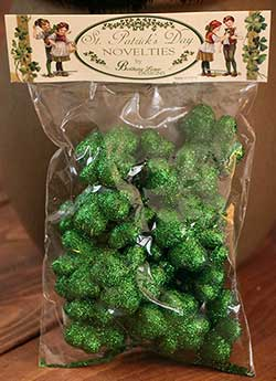 Glittered Shamrocks In Bag
