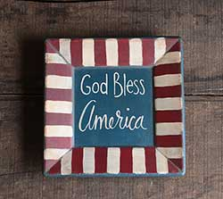 God Bless America Primitive Plate