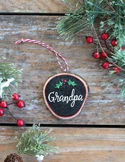 Grandpa Wood Slice Ornament (Personalized)