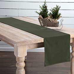 Green Velvet 90 inch Table Runner