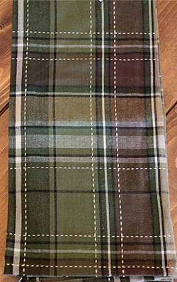 Pine Tree Plaid Dishtowel
