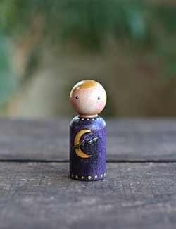 Spooky Midnight Art Doll