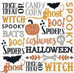 Halloween Words Paper Luncheon Napkins