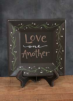 Love One Another Hand Painted Plate