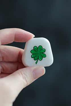Four-Leaf Clover Pocket Rock