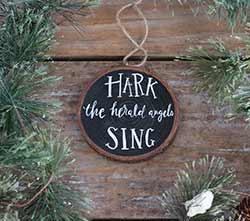 Hark The Herald Wood Slice Ornament (Personalized)