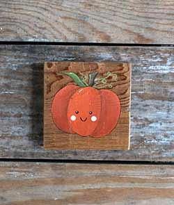 Kawaii Pumpkin Shelf Sitter Sign