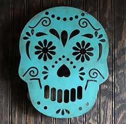 Sugar Skull Wall Decor - Teal