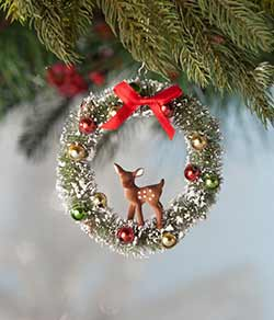 Fawn in Wreath Ornament