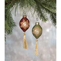Vintage Mini Tassel Ornaments (Set of 2)