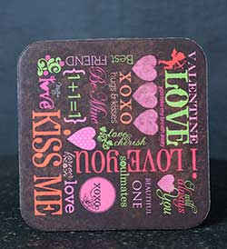 Love Sampler Coaster
