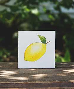 Lemon Hand Painted Sign
