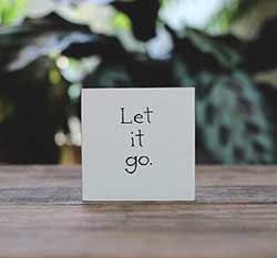 Let it Go Shelf Sitter Sign