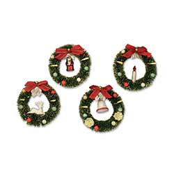 Bottlebrush Wreath Ornaments (Set of 4)