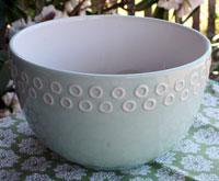 Large Aqua Mixing / Serving Bowl