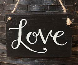 Love Wood Sign - Black