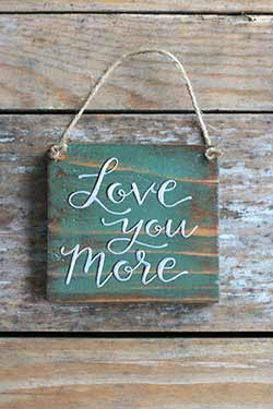 Love You More Sign (Green & Purple)