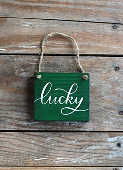 Lucky Sign Ornament