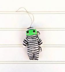 Marvin the Mummy Wool Felt Ornament