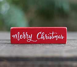Merry Christmas Shelf Sitter - Red