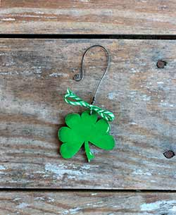 Mini Shamrock Personalized Ornament