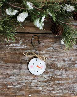Mini Snowman Head Ornament