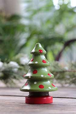 Christmas Tree Figurine - Lime Green