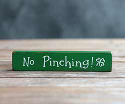 No Pinching Mini Stick Sign